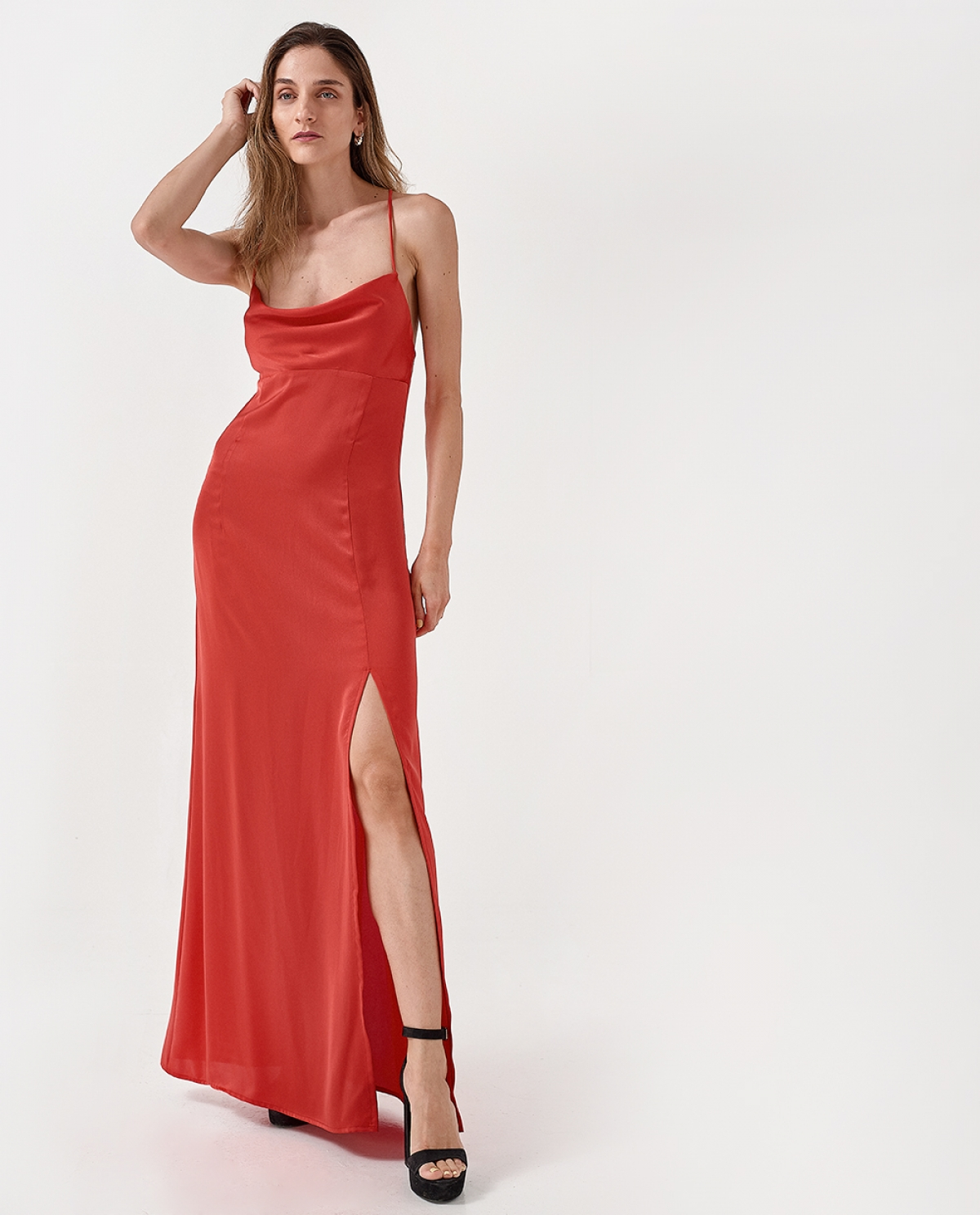 Inya Red Slip Dress