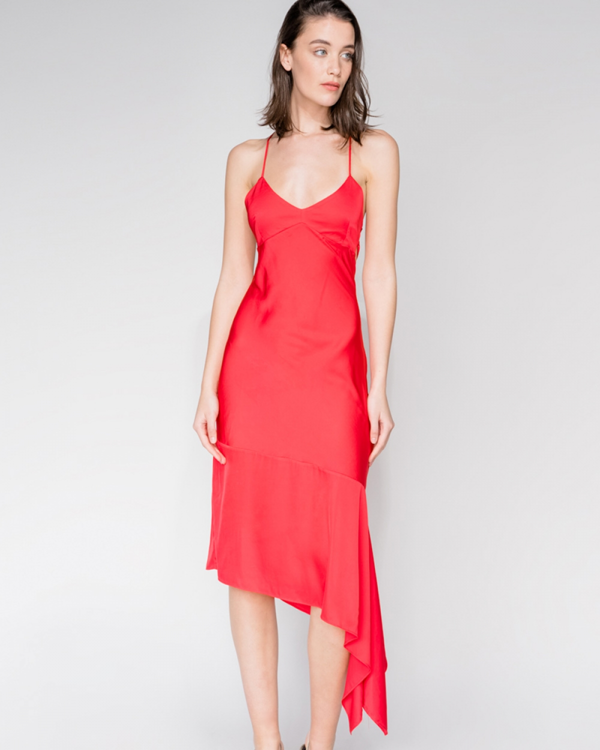 IRIS Slip Red Dress