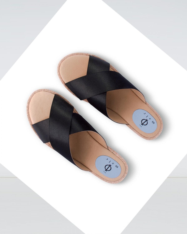 Island - Black Crossover Espadrille Sandal