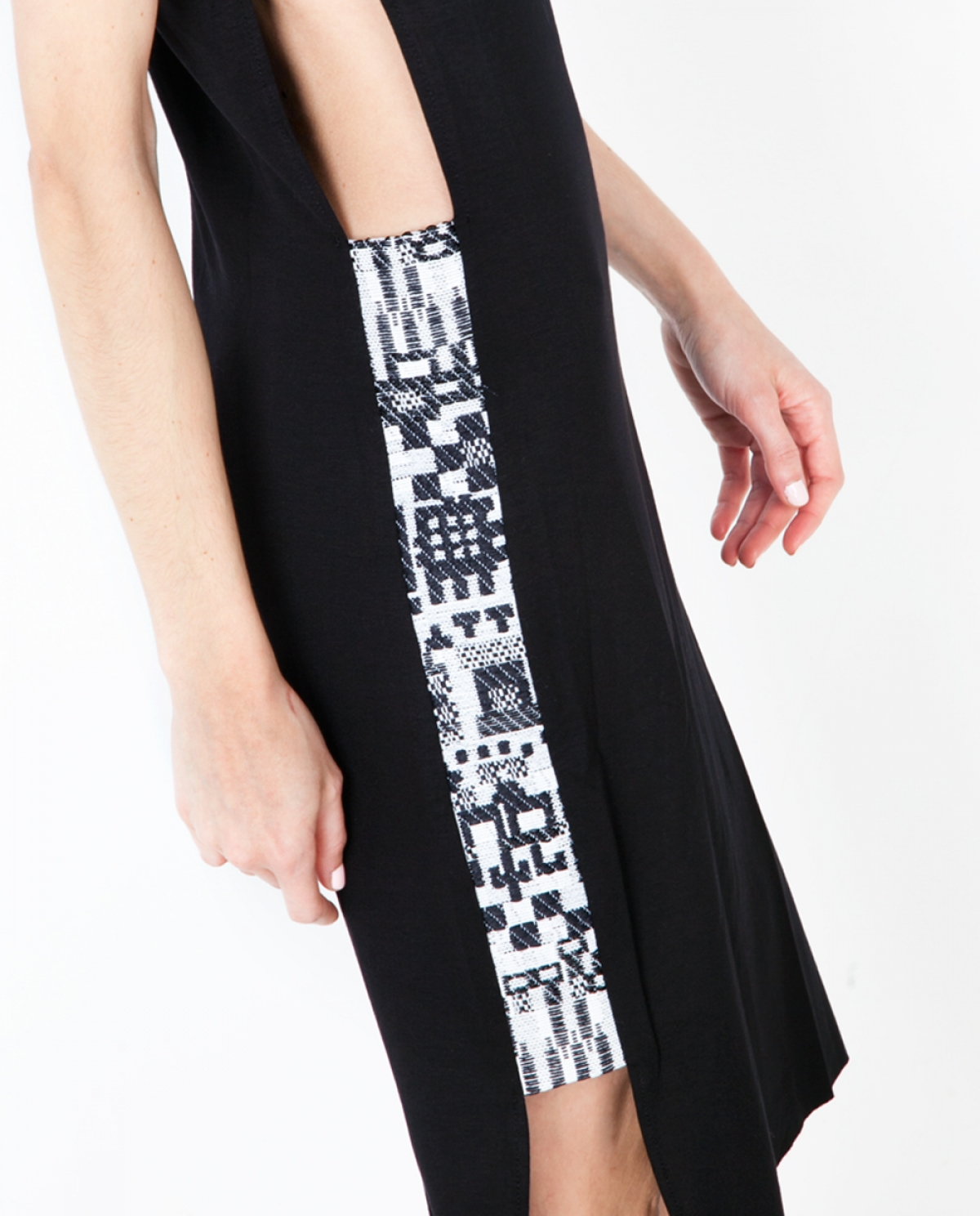 Jacquard Cutout Jersey Dress