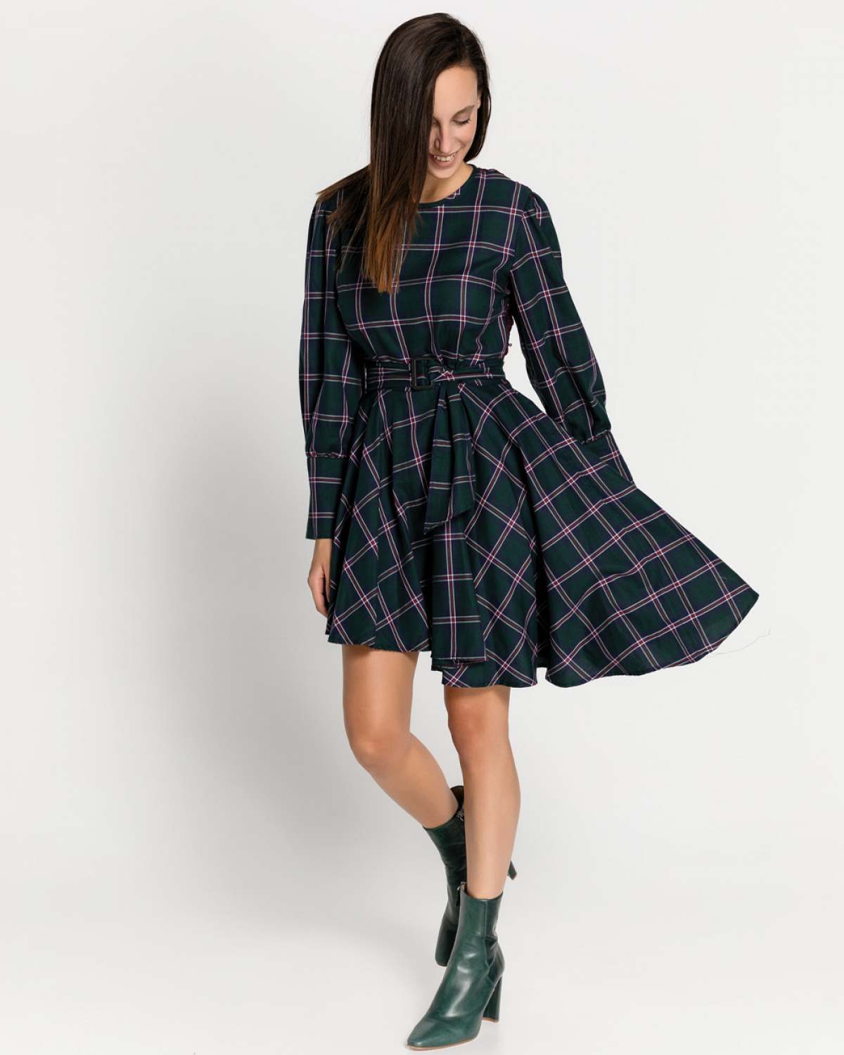 Jasper Checked Dress
