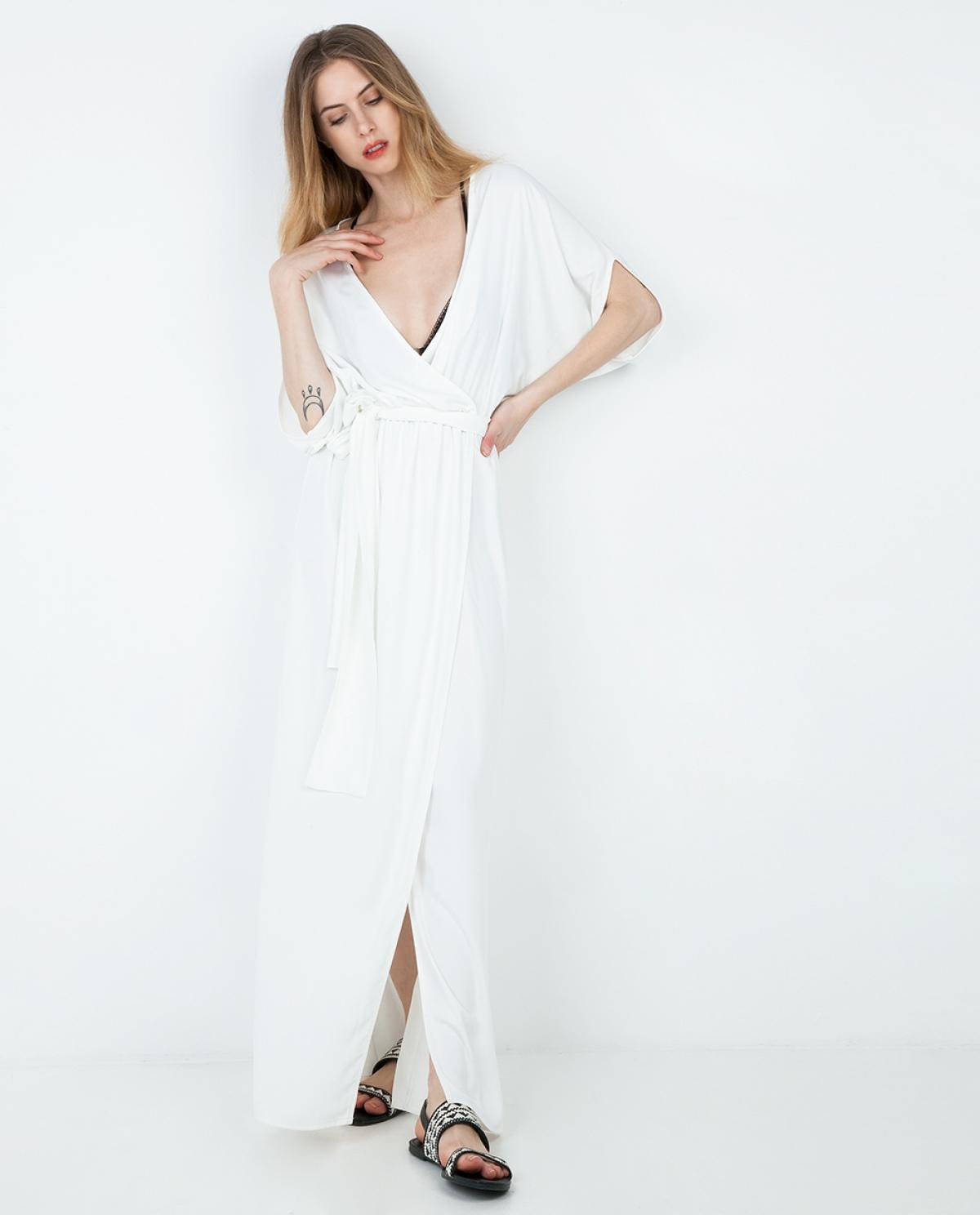Jersey Wrap Maxi Dress
