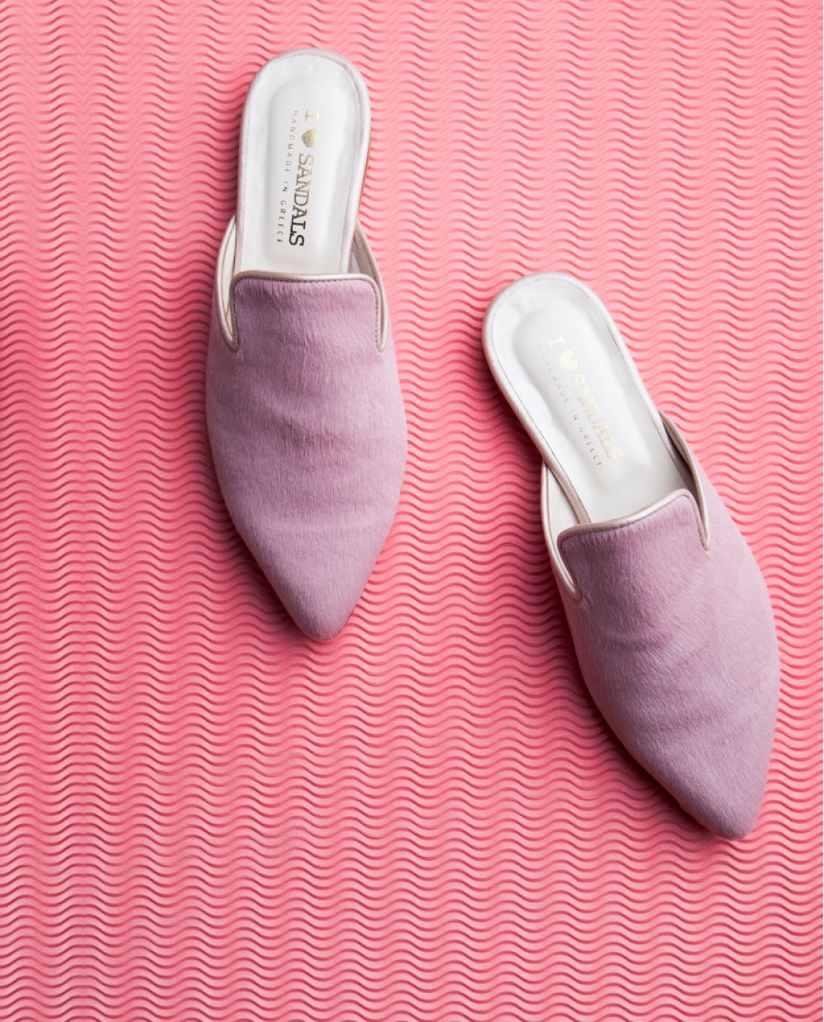 Julia Pink Ponyskin Slippers