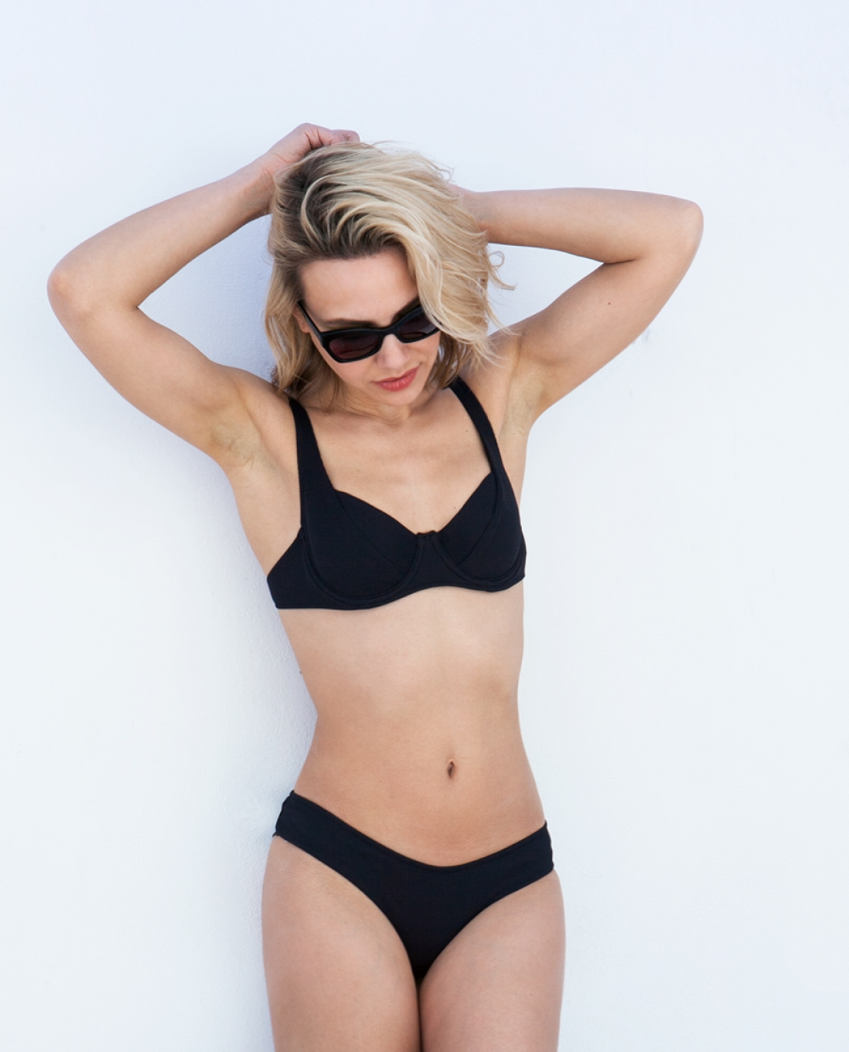 Kali Black Ribbed Underwired Bikini