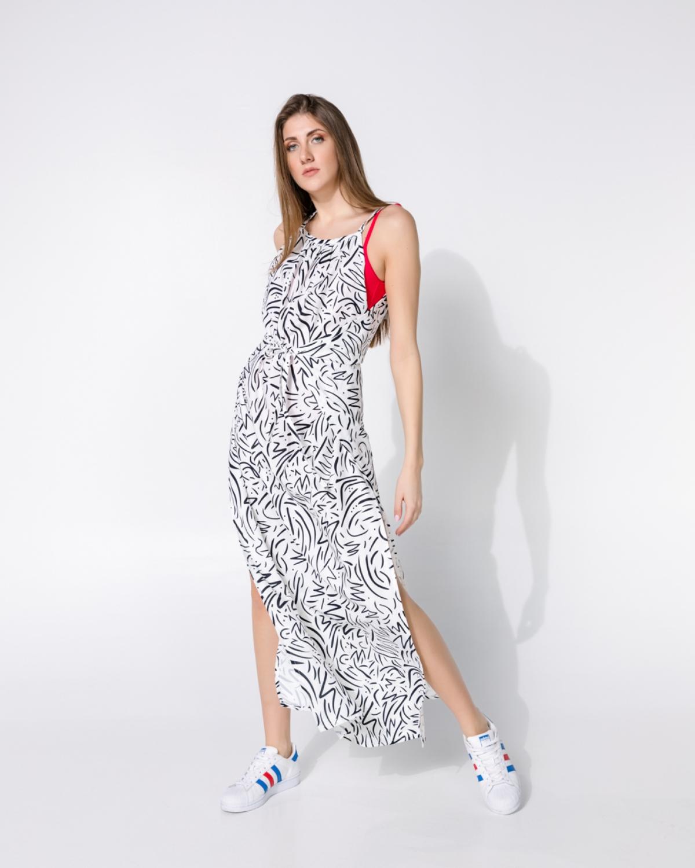 Kassia Zebra White Dress