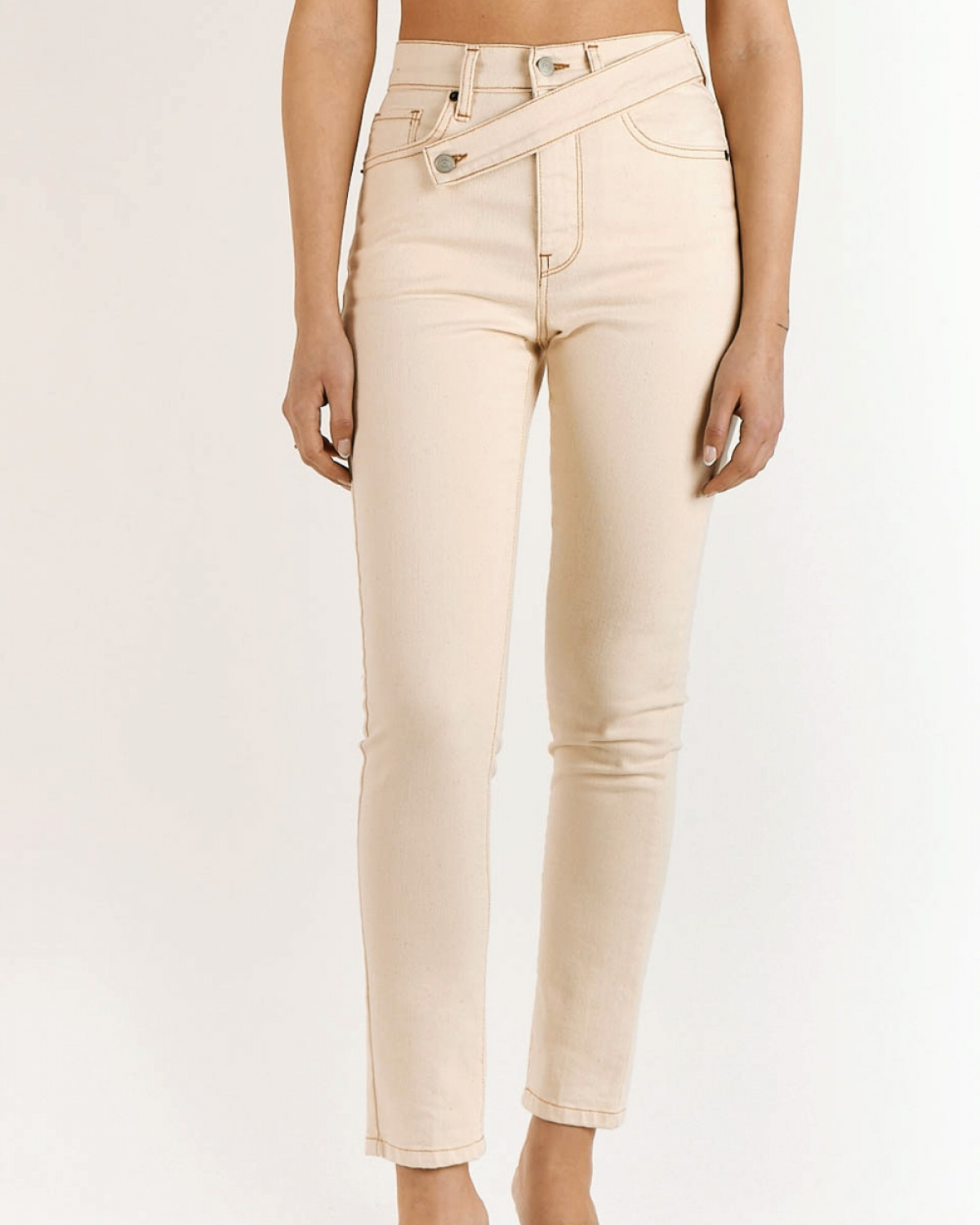 Kate Cream Reworked Jeans