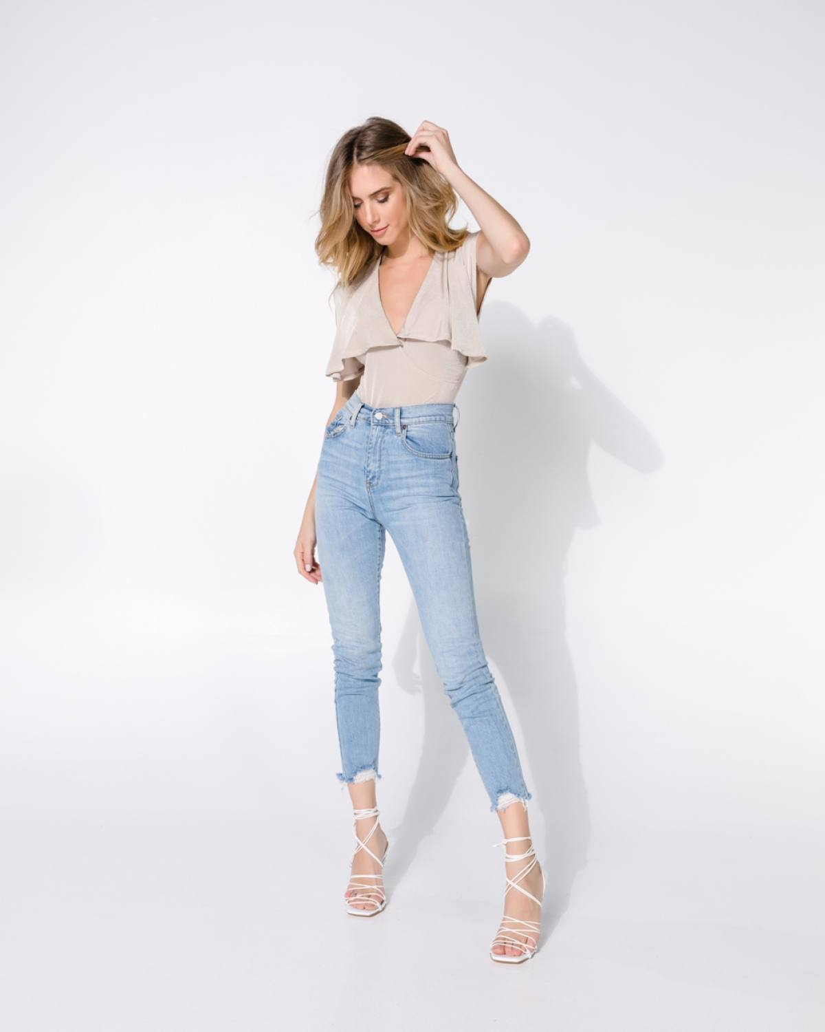 Kate Light Cropped Jeans