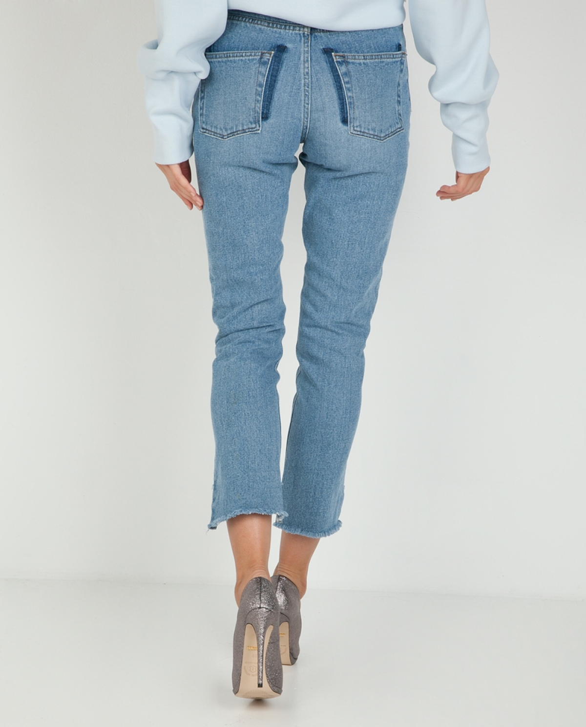 Kelly Barrel Cropped Jeans