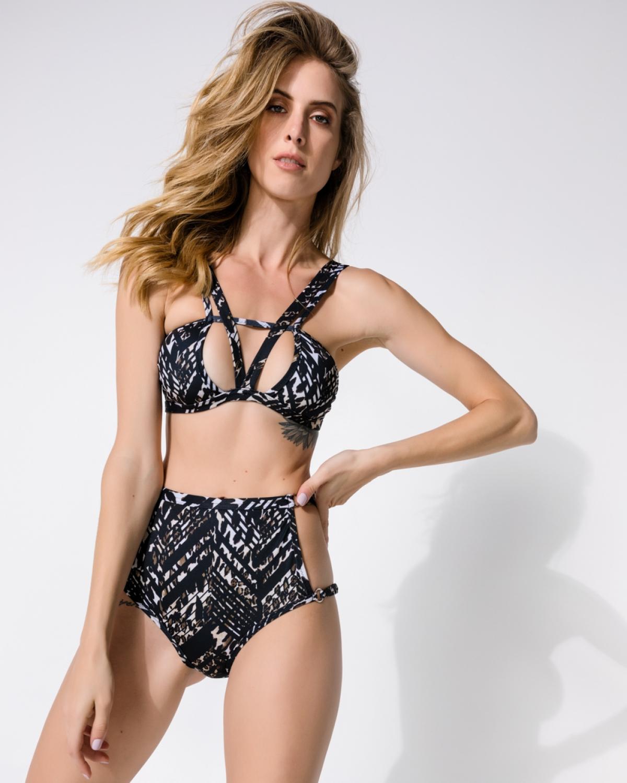 Kéré Black Geometric Bikini