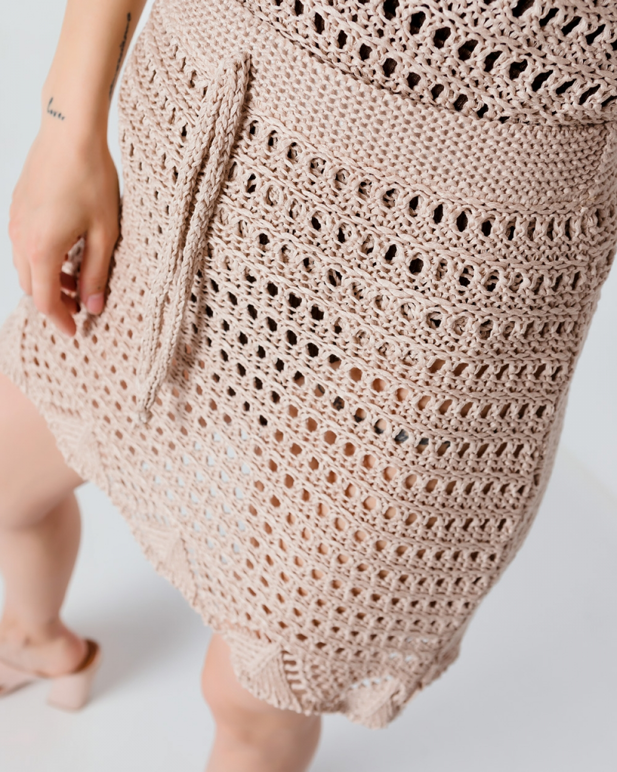 Crochet Beige Skirt