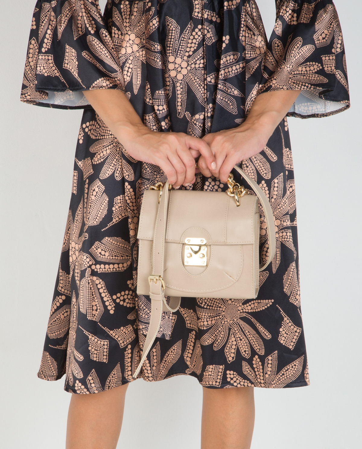 'Lady' Beige Leather Bag