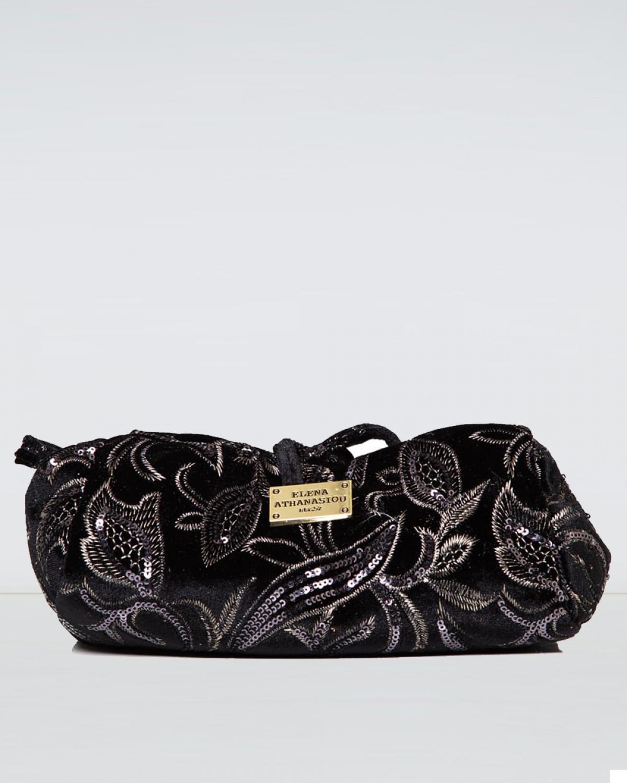 Large Sequin Black Lunch Bag