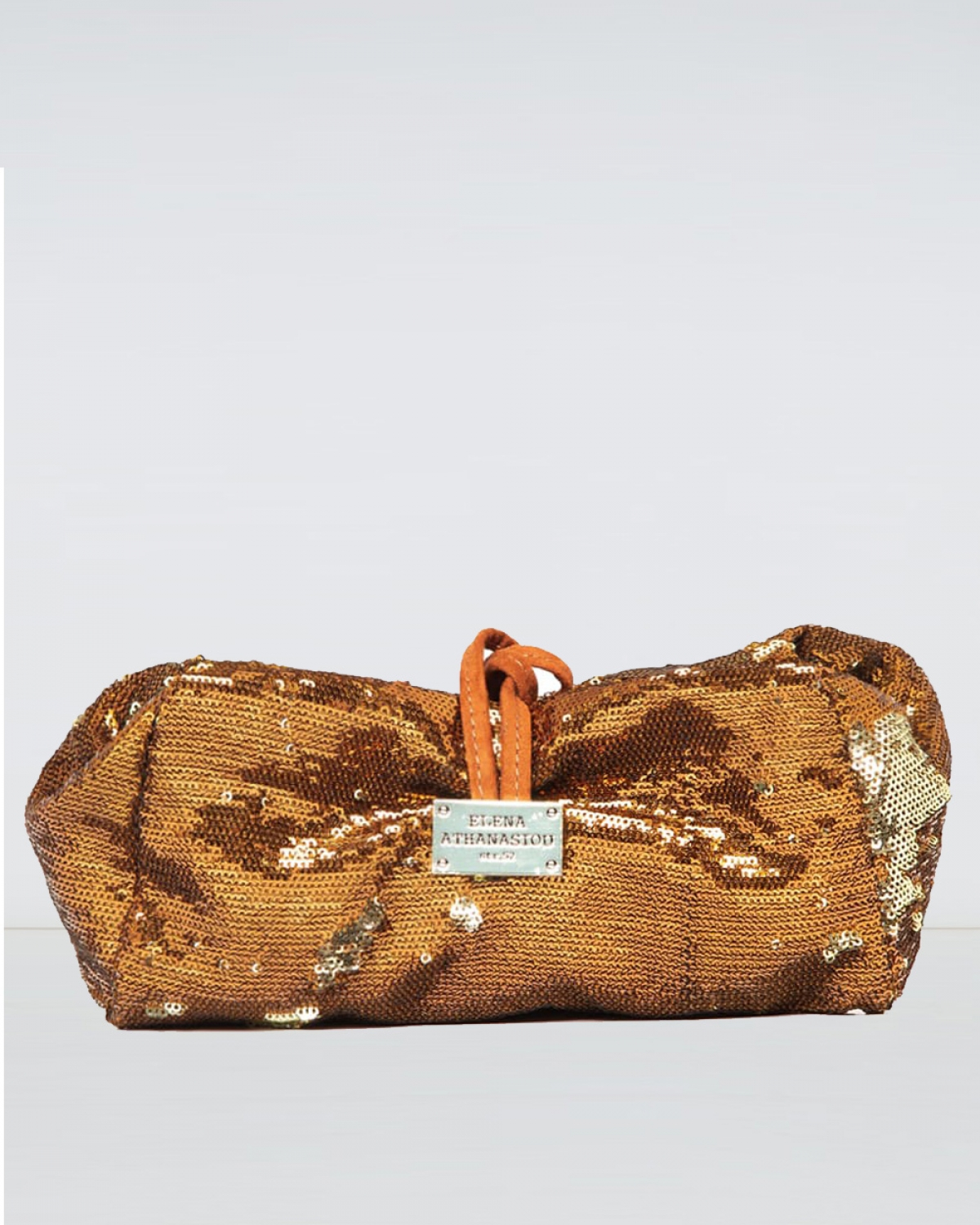 Large Sequin Bronze Lunch Bag