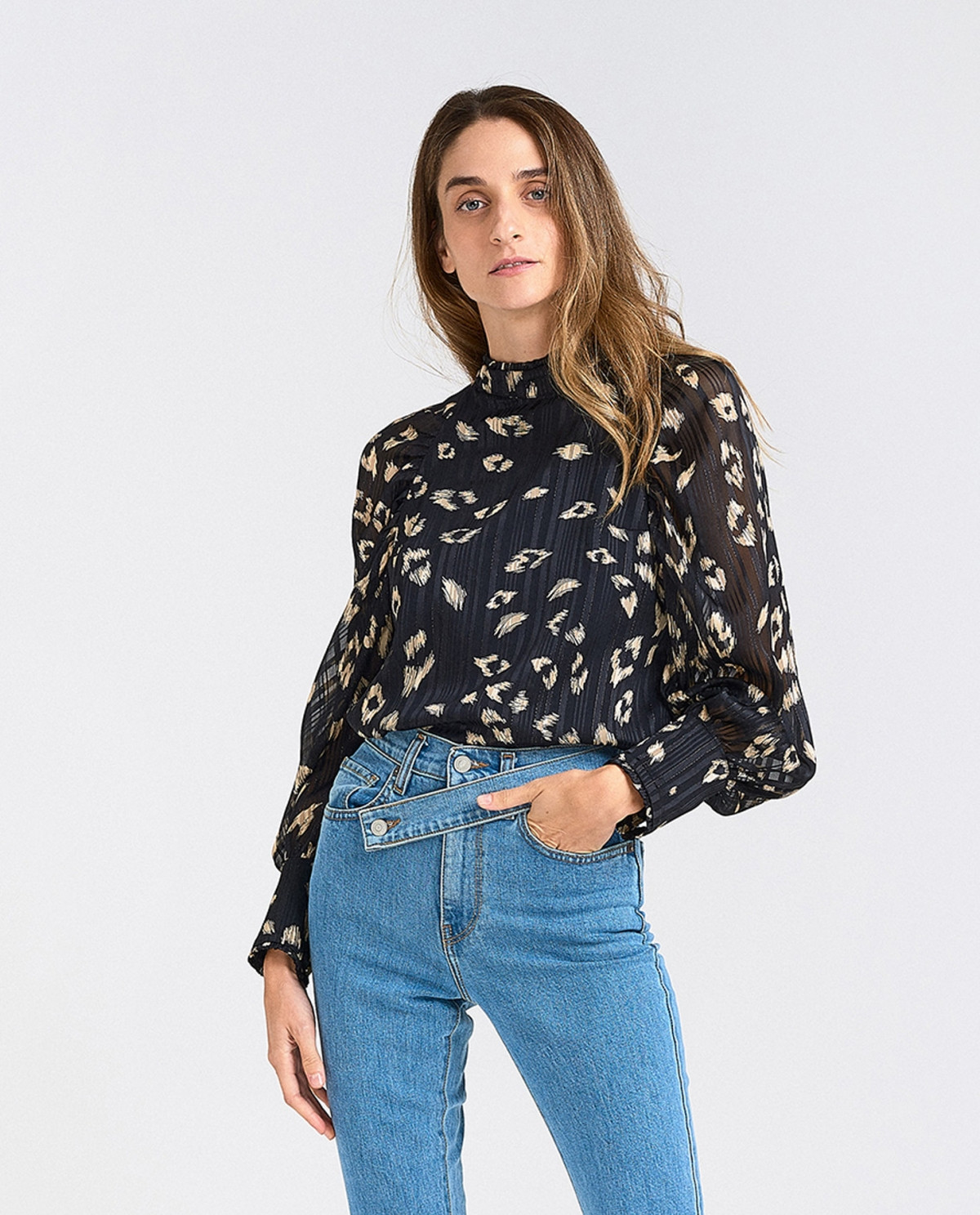 Leaves-Printed Top