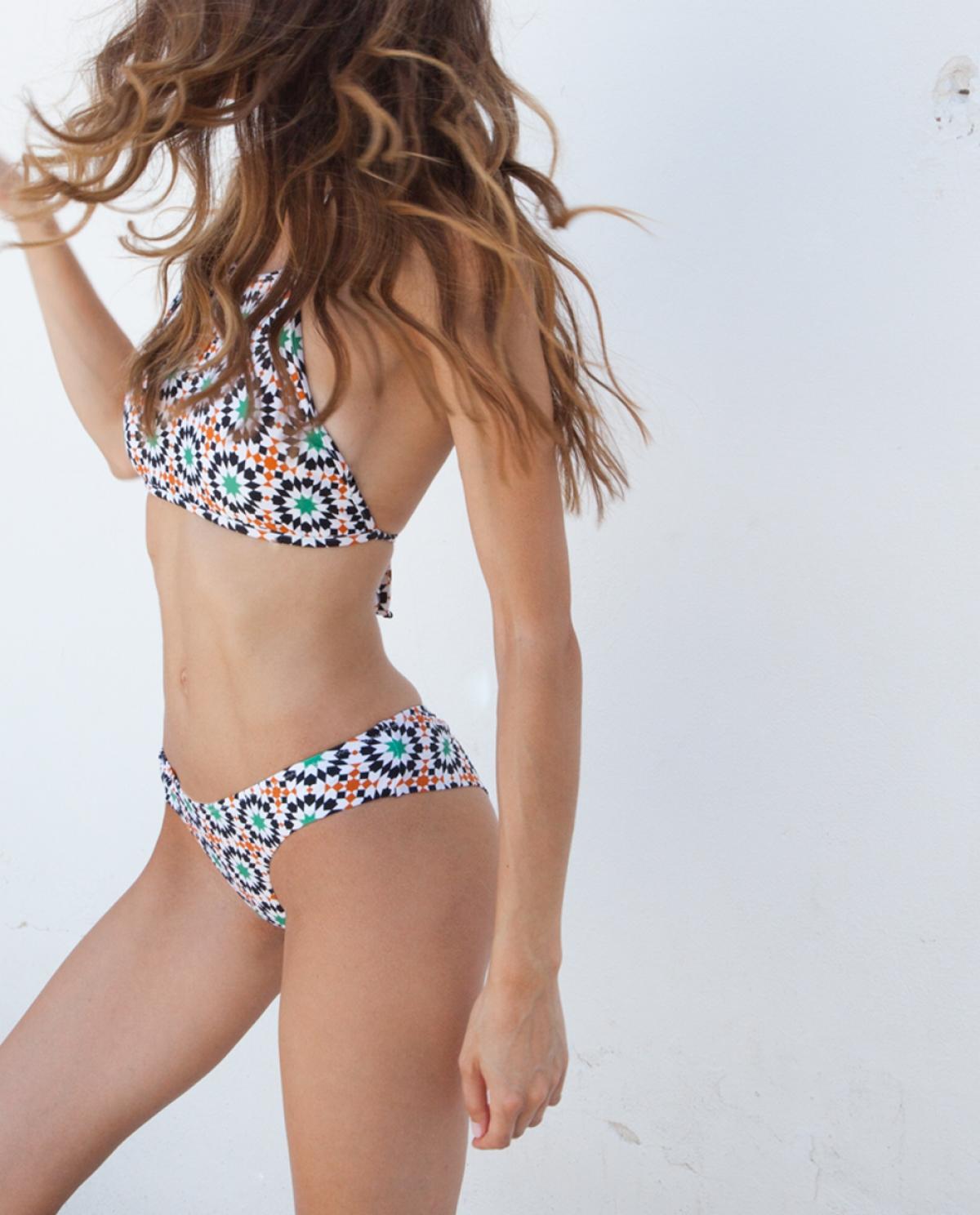 Lulu Moroccan-printed Bikini