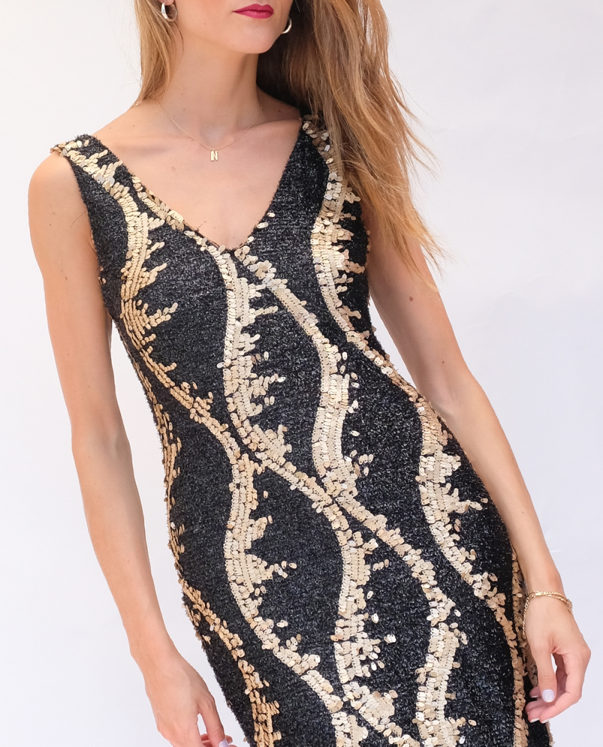 Lupus Sequined Mini Dress