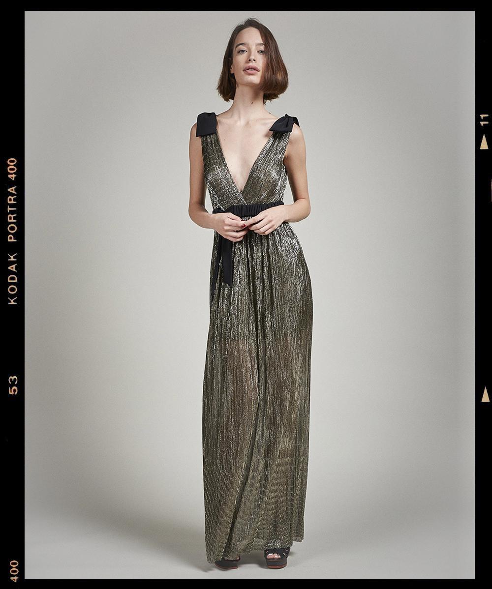 Lysithea Golden Tulle Gown