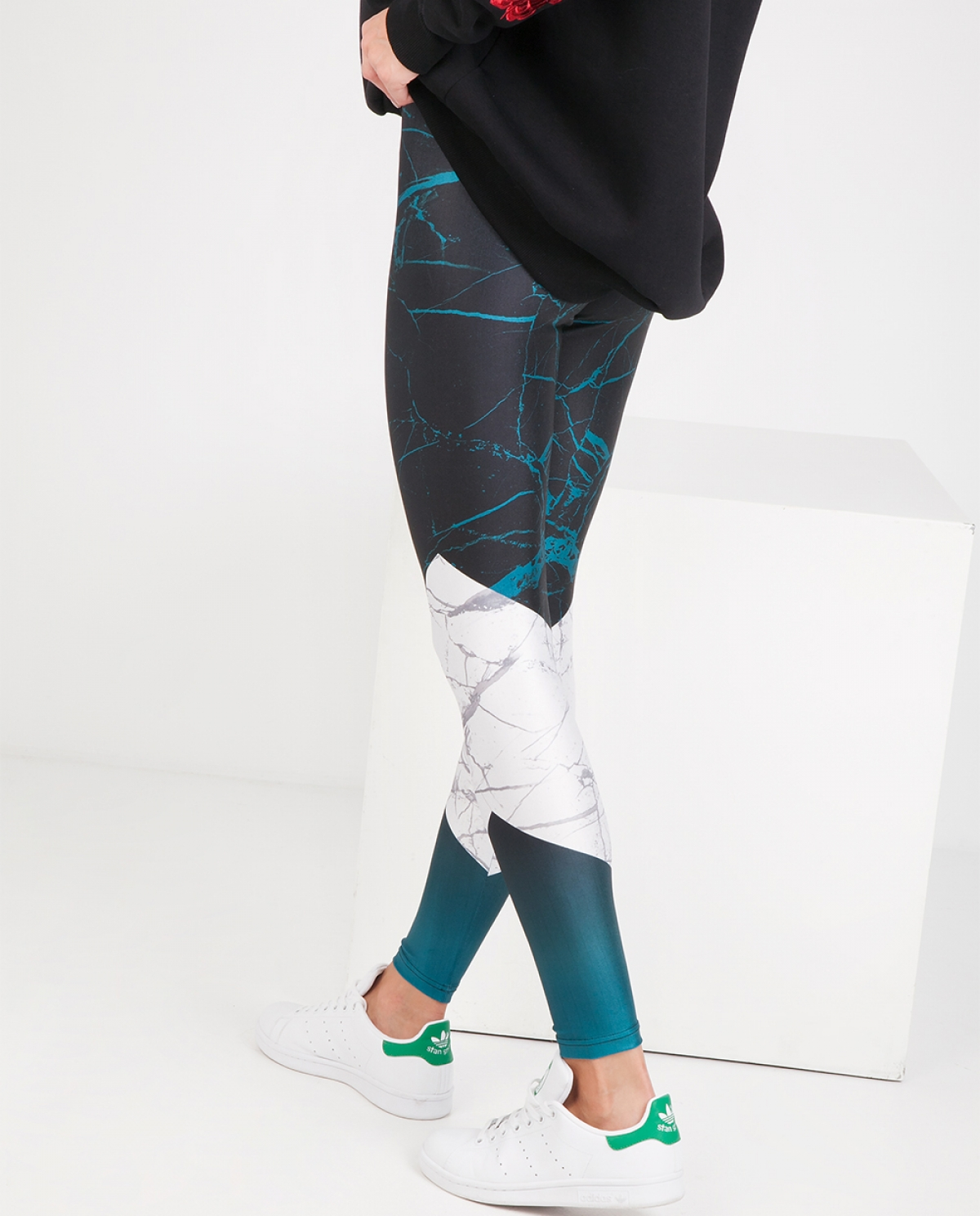Marble One Way Leggings