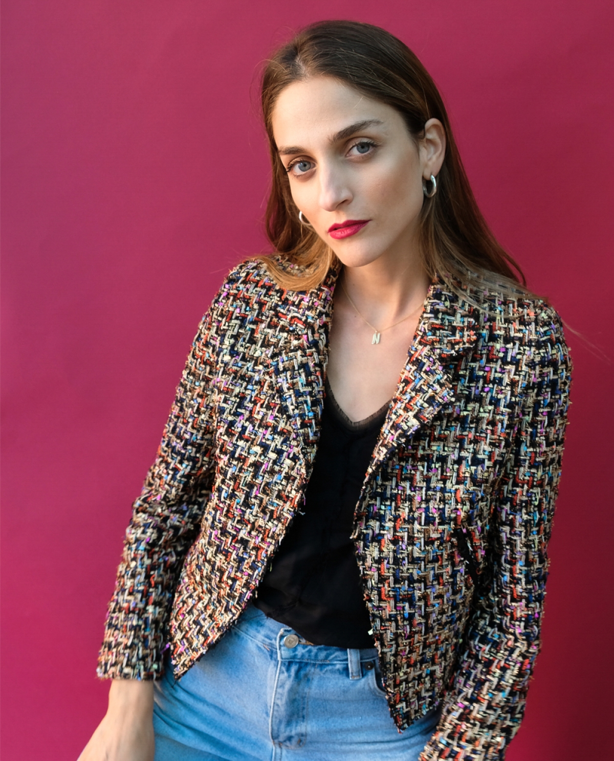Maritina Cropped Tweed Jacket