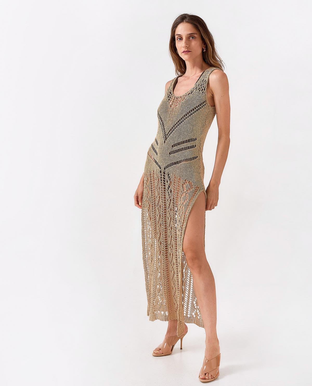 Maxi Sand Crochet Dress