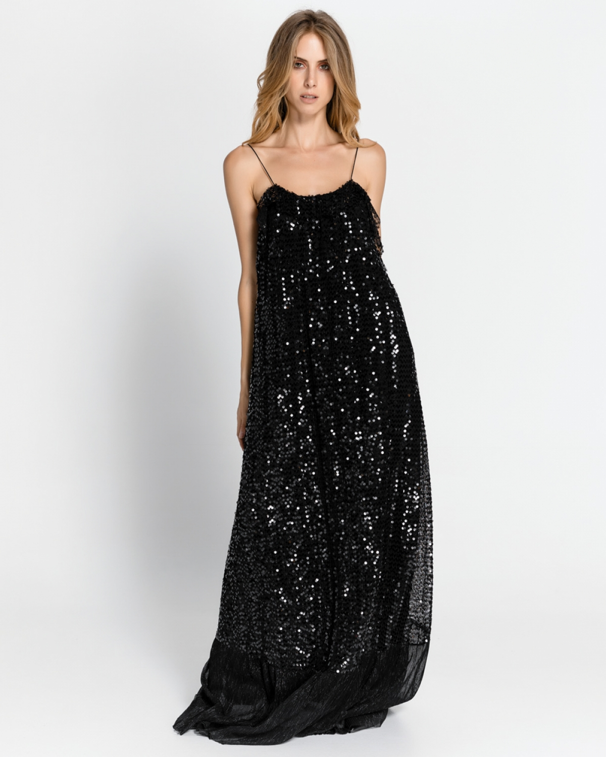 Maxi Sequined Tulle Dress