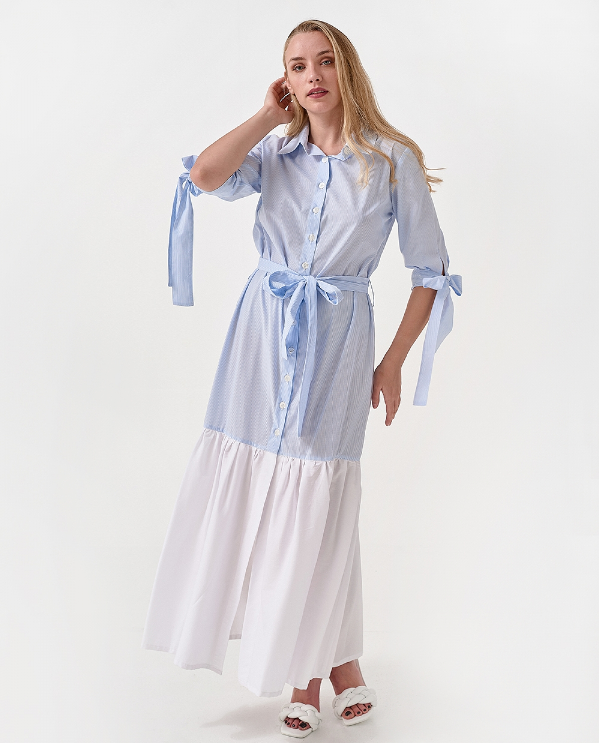 Maxi Wraped Shirtdress