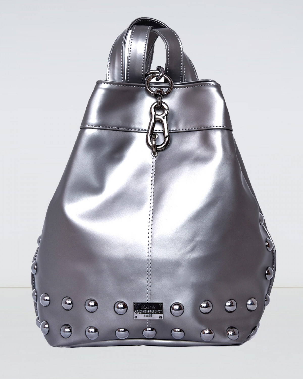 Metallic Grey Backpack