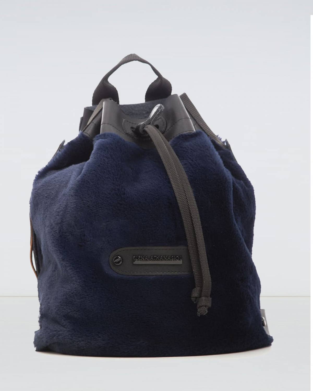 Midnight Blue Fluffy Backpack
