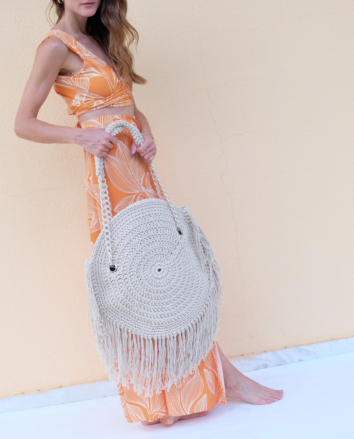 Milos Crocheted Shoulder Bag