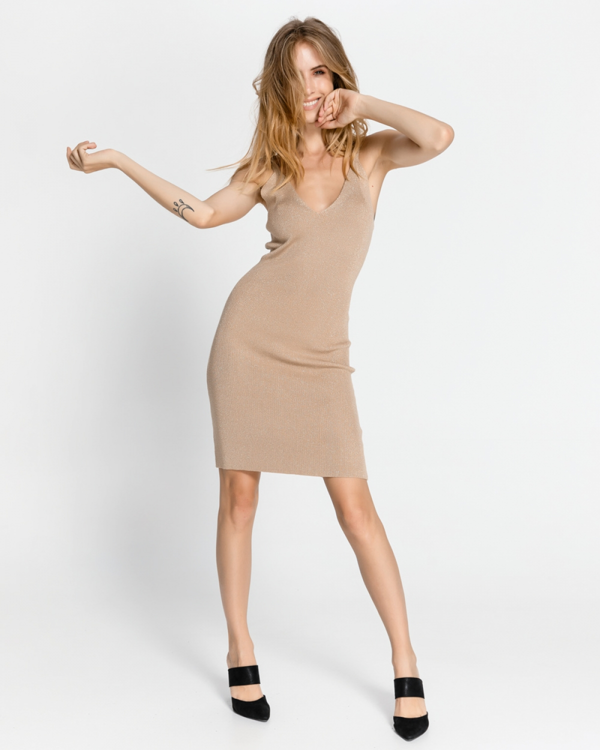 Mini Beige Dress
