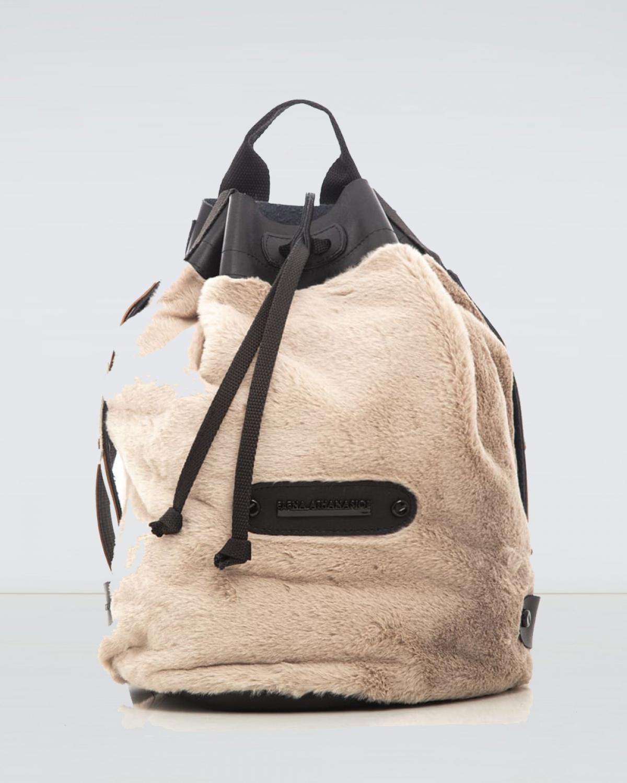 Mocha Fluffy Backpack