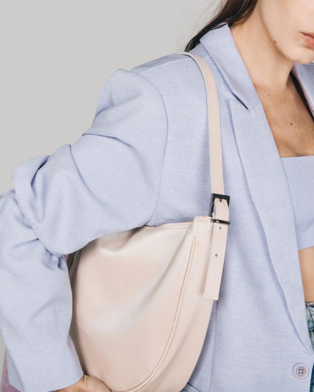 Moon Baguette Baby Pink Bag
