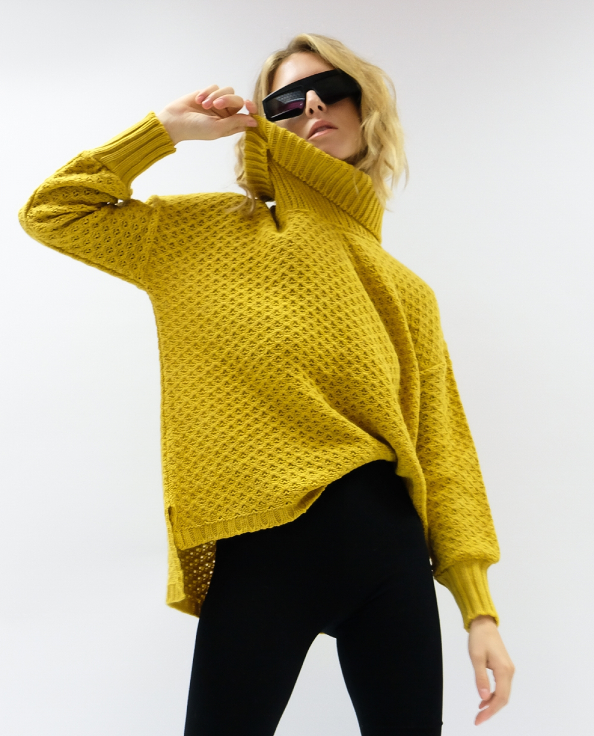 Mustard Turtleneck Jumper