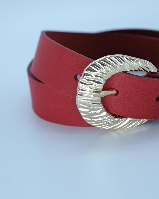Myriam Red Leather