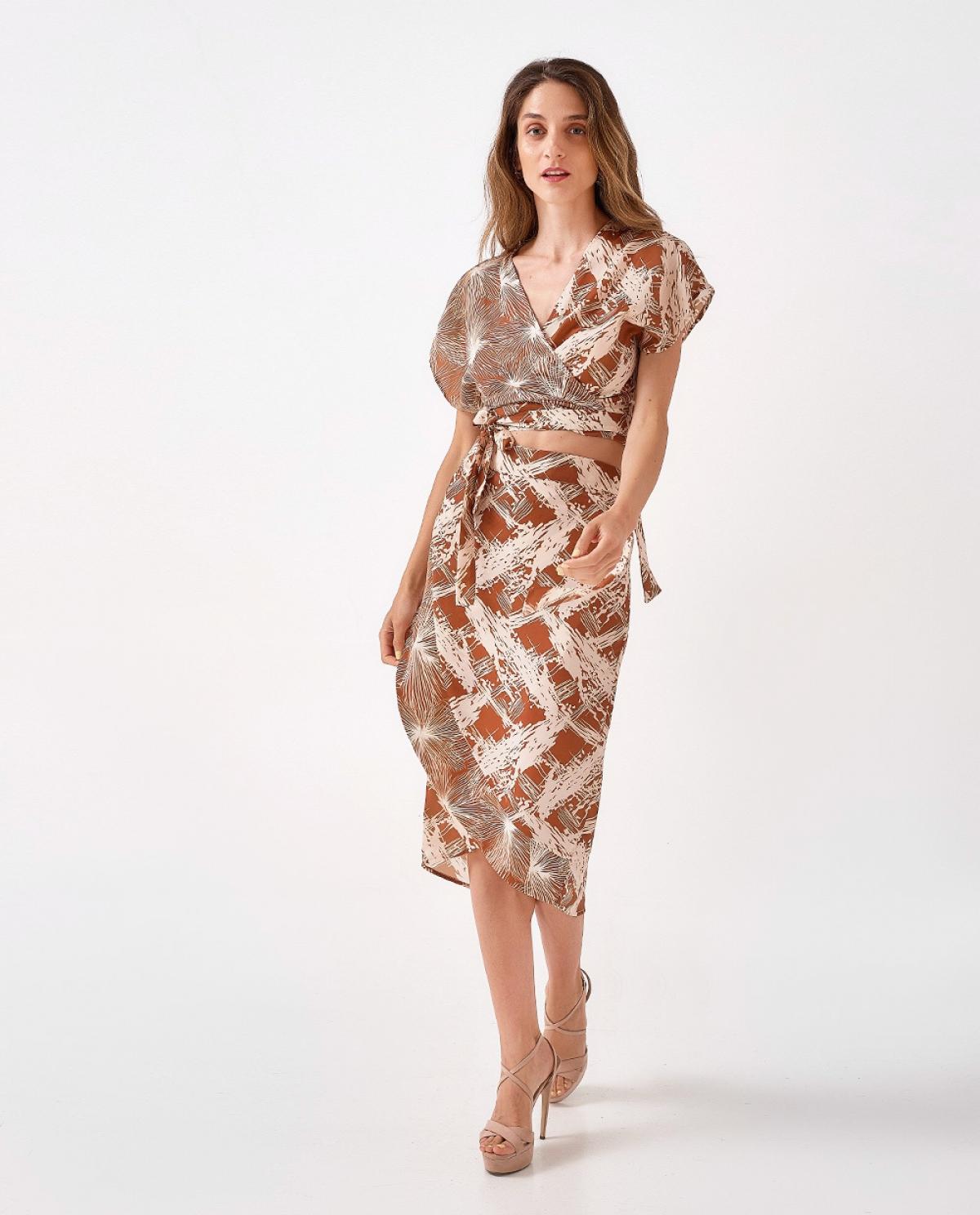 Nemesis Midi Wrap Skirt
