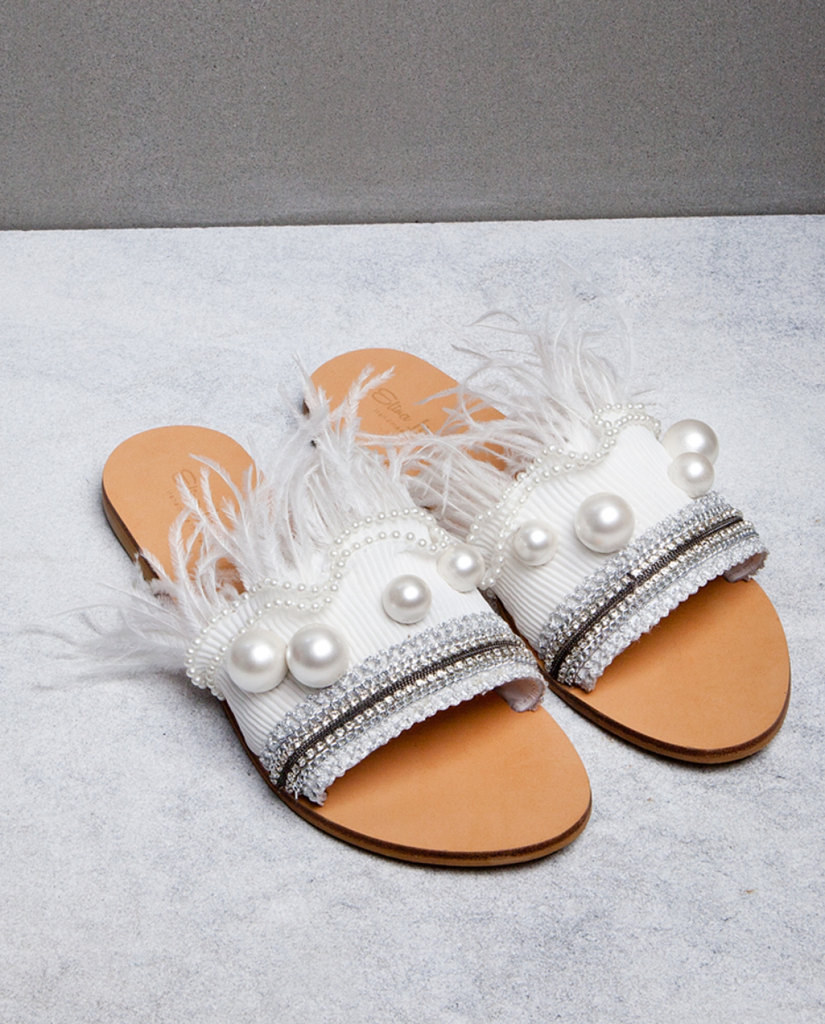 Odette Feather Sandals