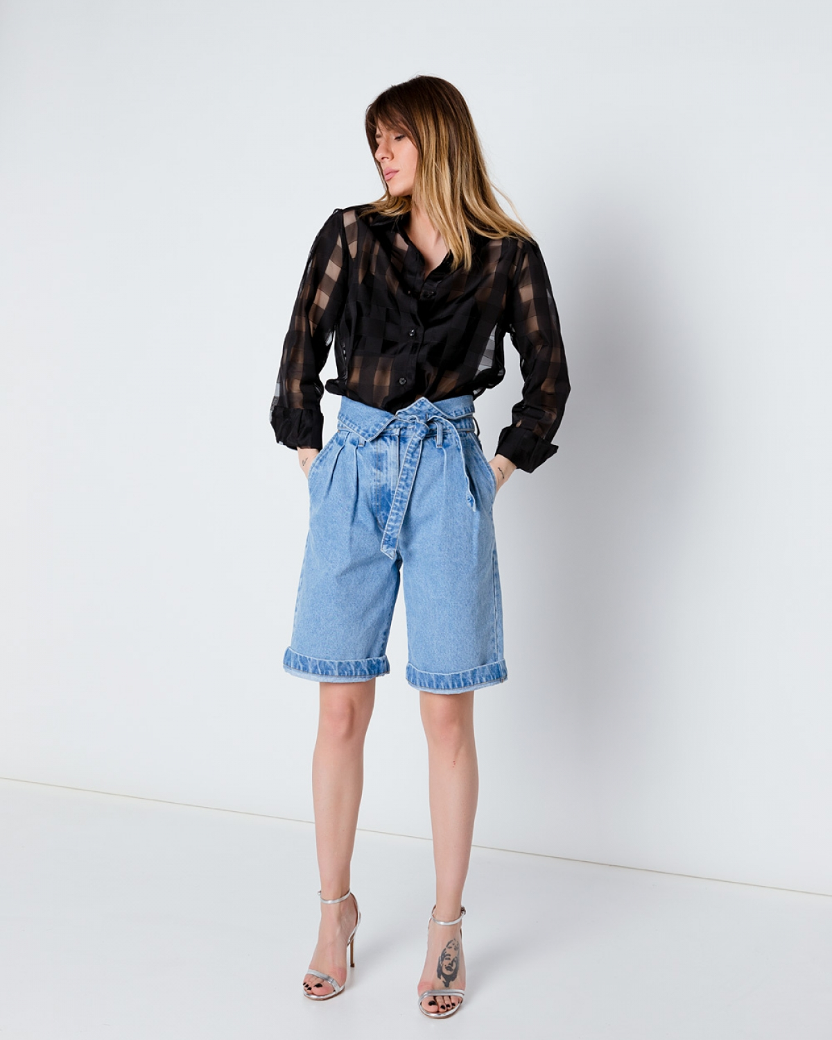 Olivia Light Denim Bermuda Shorts