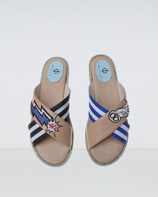 Opa - Beige Crossover Espadrille Sandal