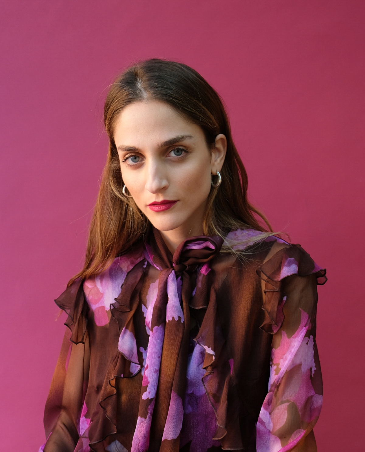 Ophelia Printed Silk Shirt