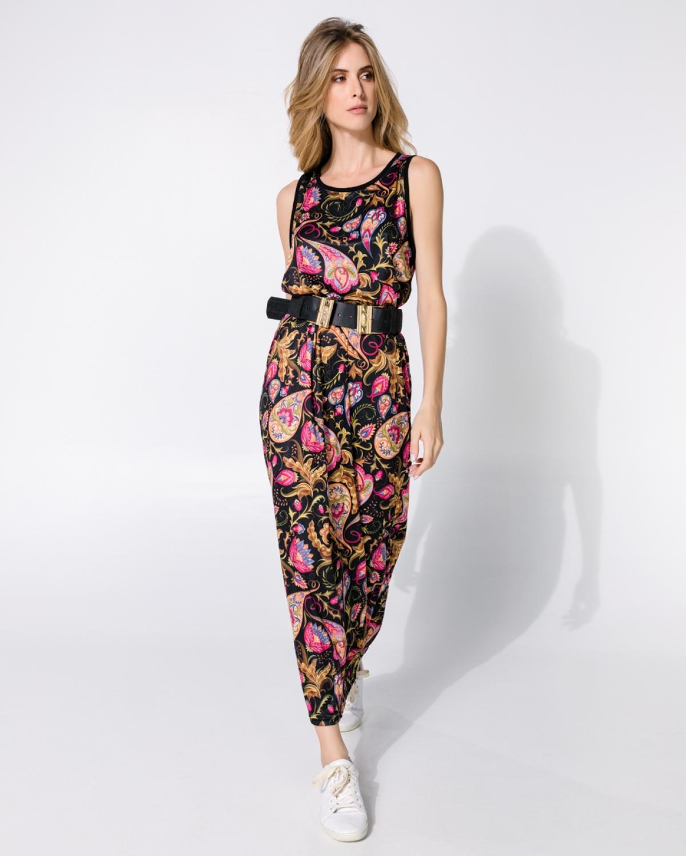 Paisley Coral Black Bengal Long Dress