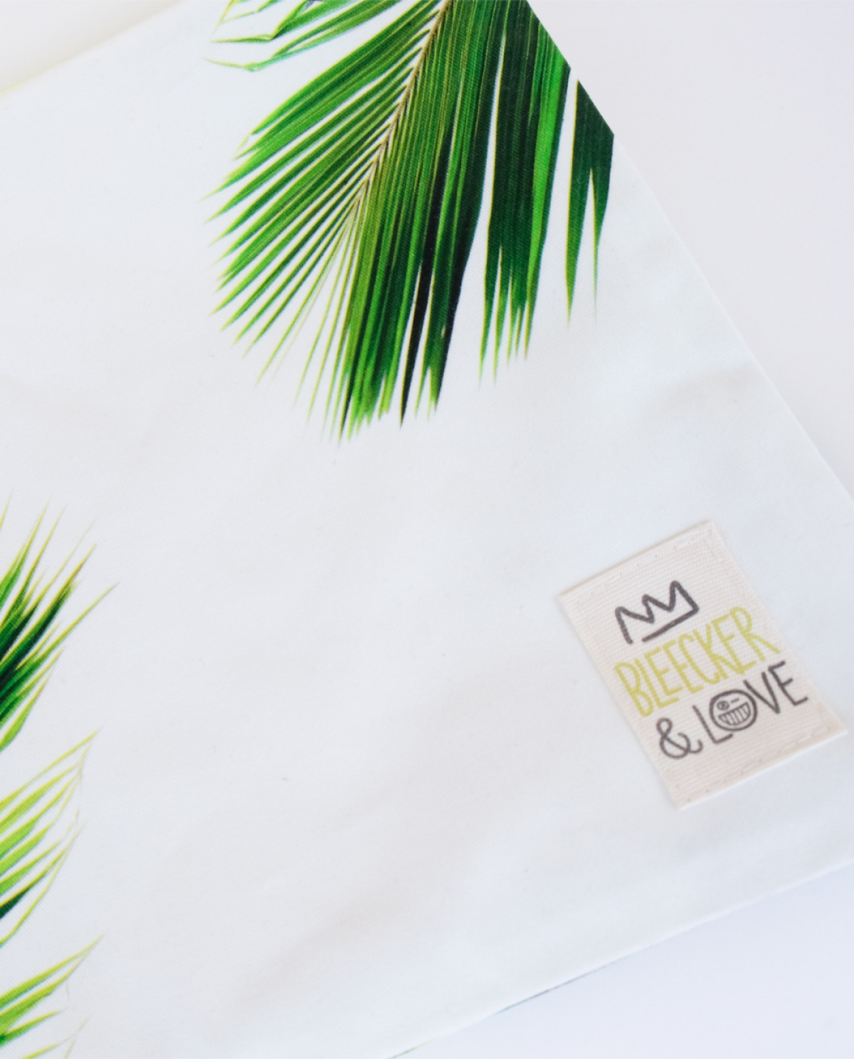Palm Medium Canvas Clutch