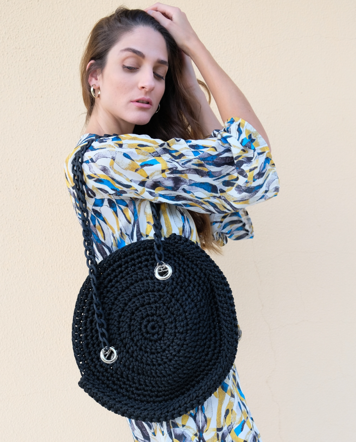 Paros Crochet Shoulder Bag