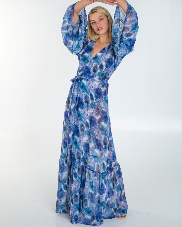 Peacock Kaftan Dress