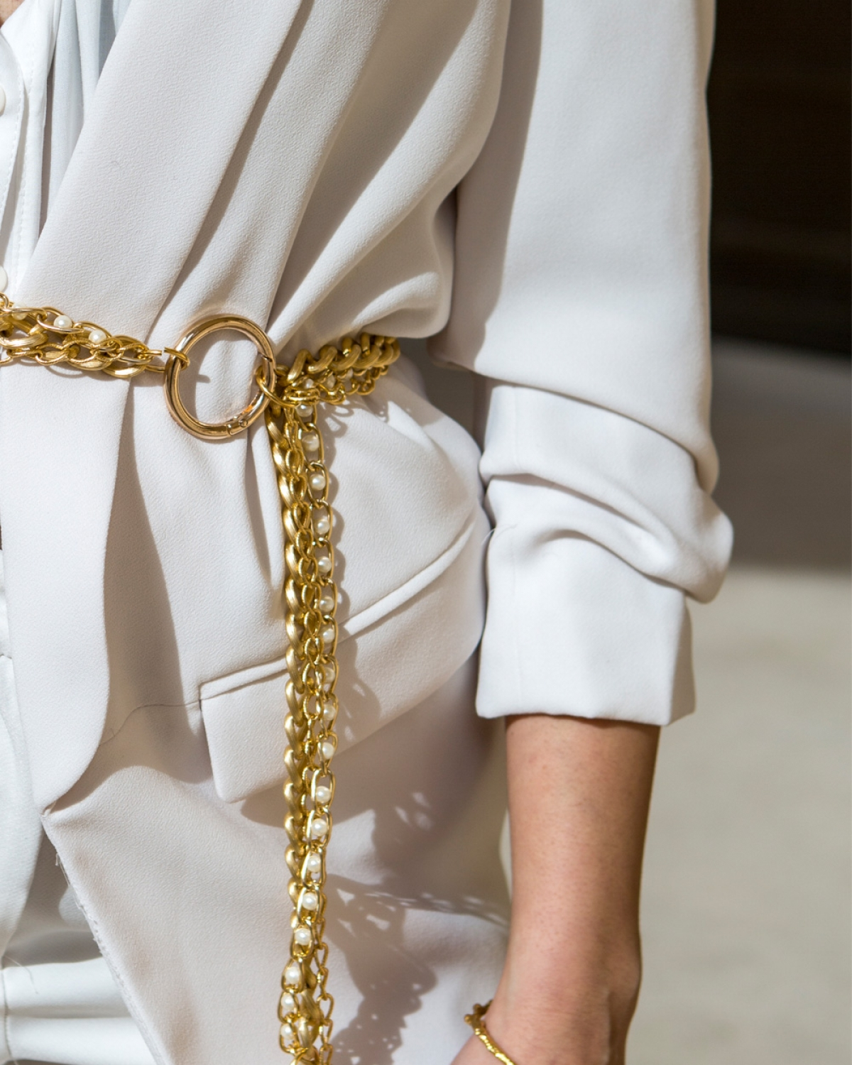 Pearl Gold Chain Belt