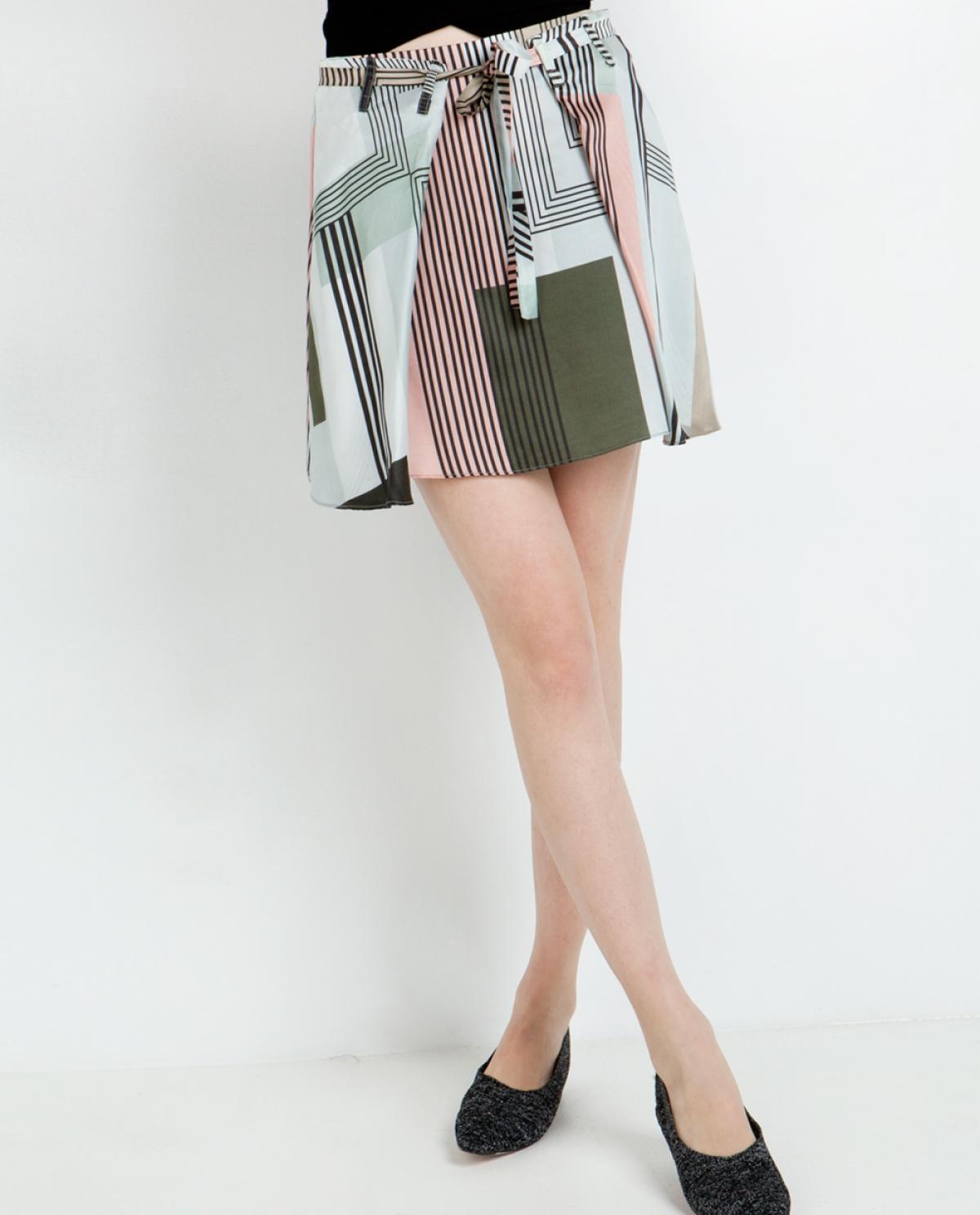 Peony Mini Silk Skirt