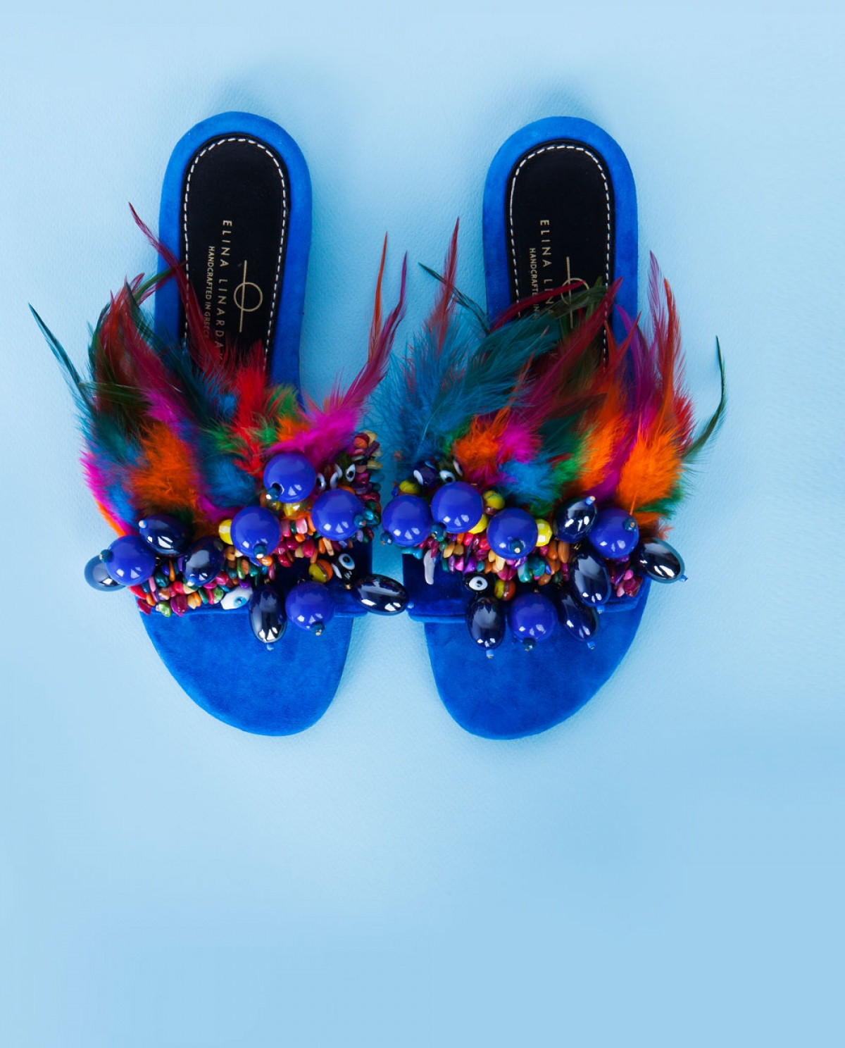 Phuket Feather-embellished Sandals