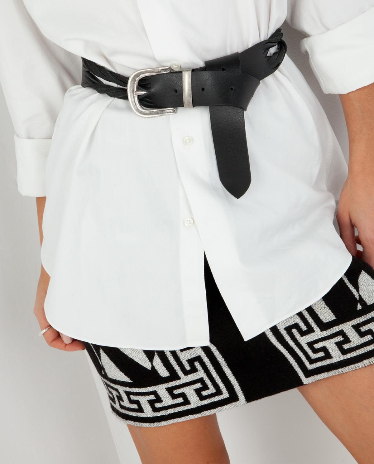 Pieces Leather Belt