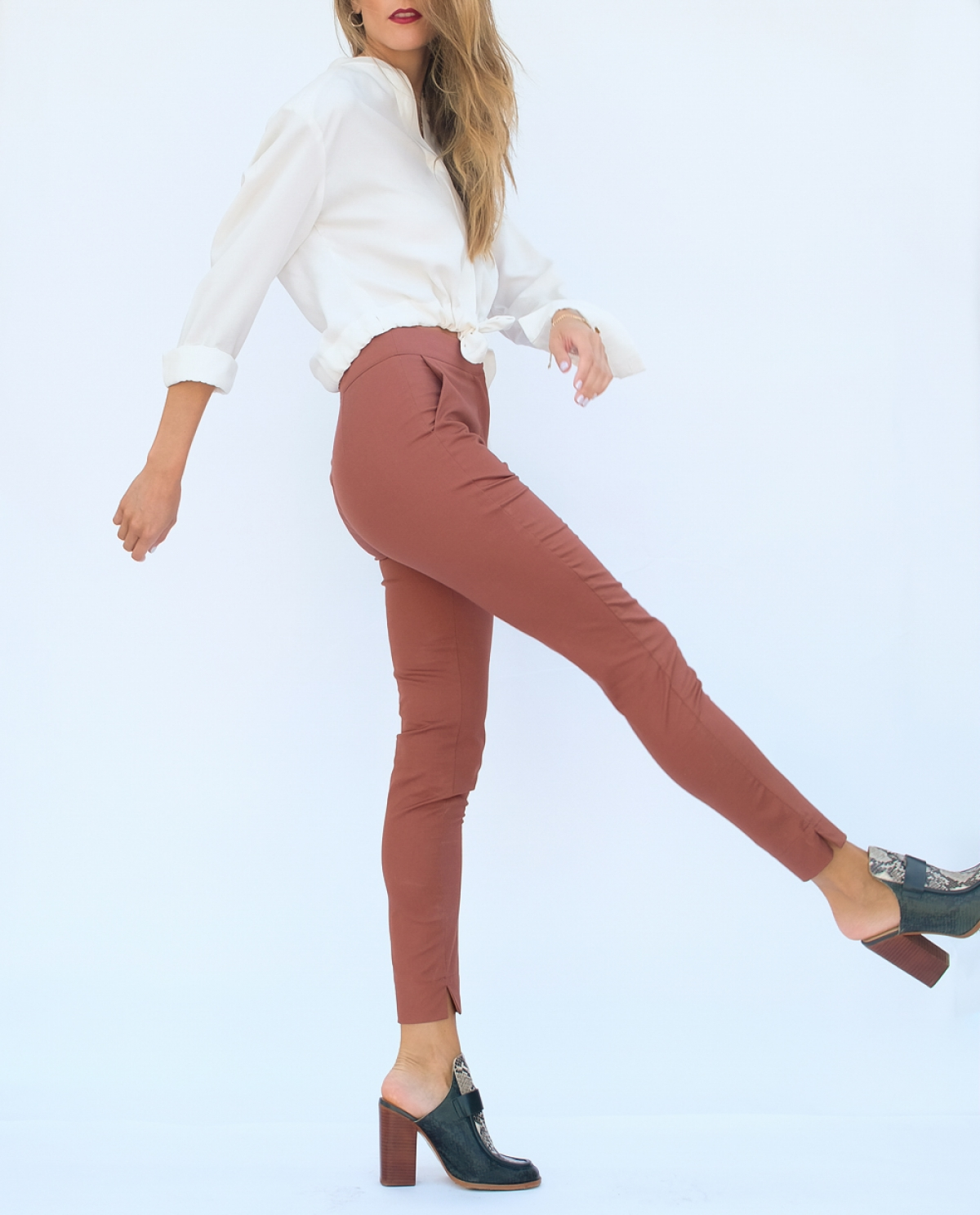 Pink Chestnut Slim Trousers