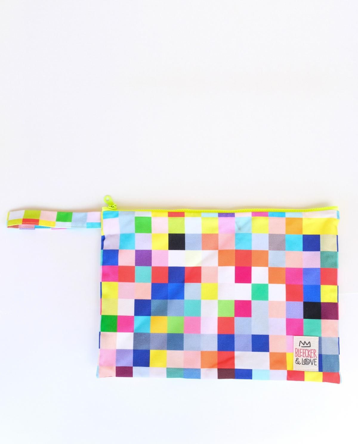 Pixel Medium Canvas Clutch