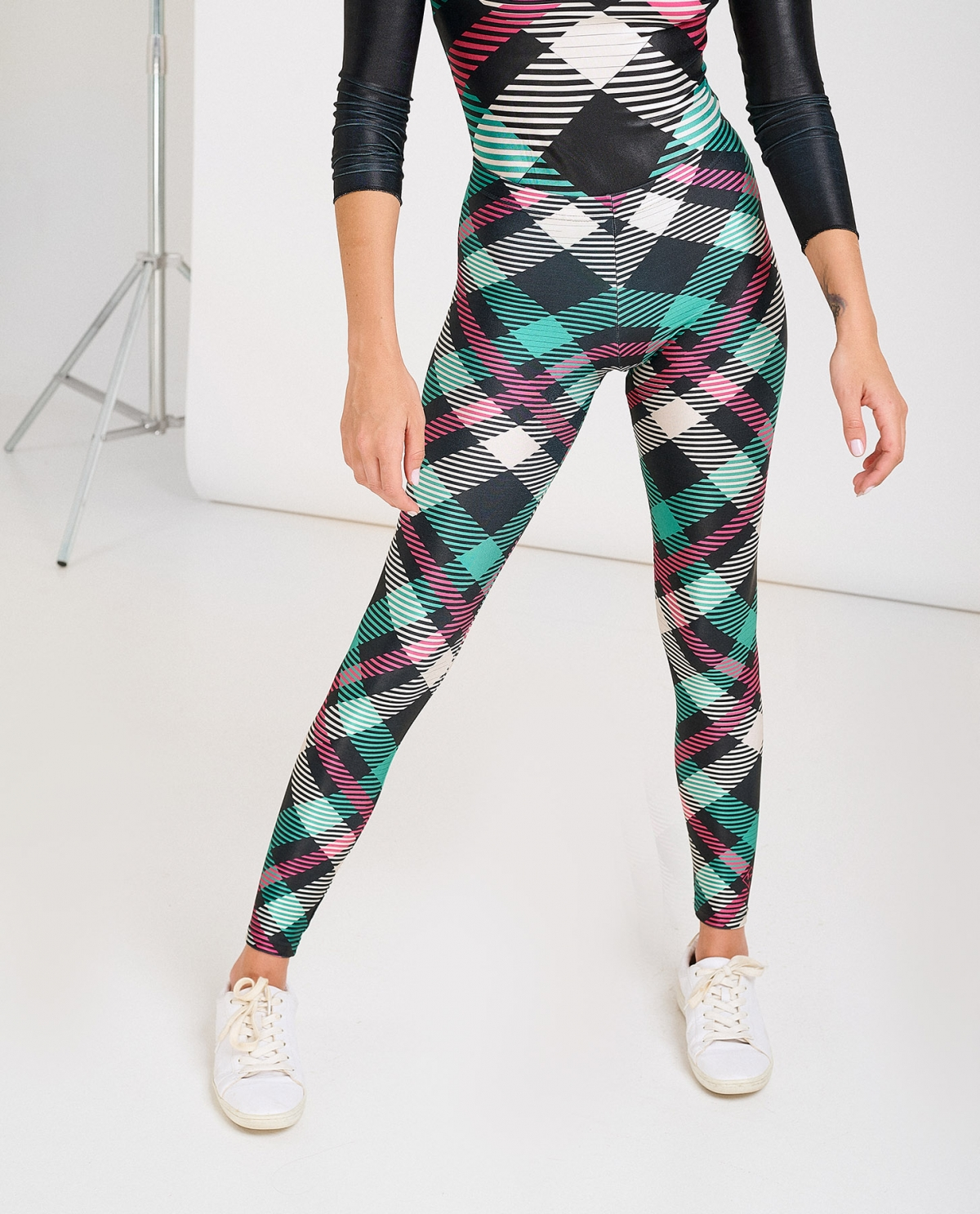 Plaid Green Leggings